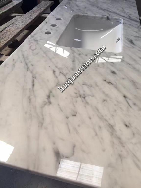 Bianco Carrara Marble Kitchen Countertops