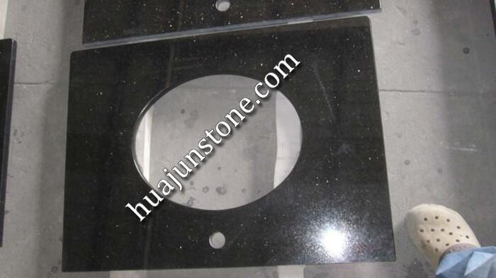Black Galaxy Granite Vanity Tops