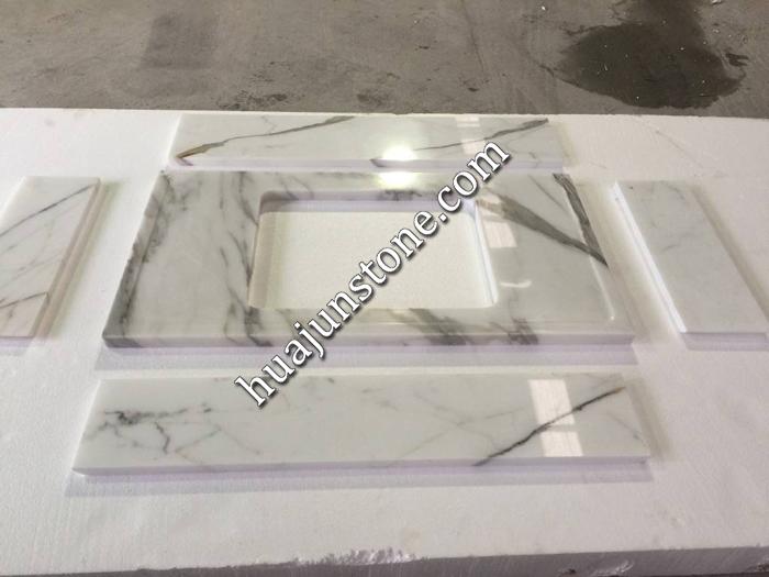 Calacatta White Marble Kitchen Countertops
