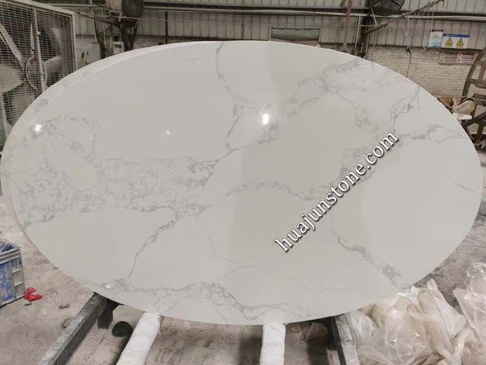 Calacatta White Quartz Table Tops
