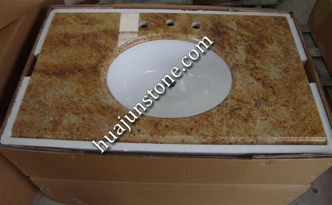 Cashmere Gold Granite Vanity Tops