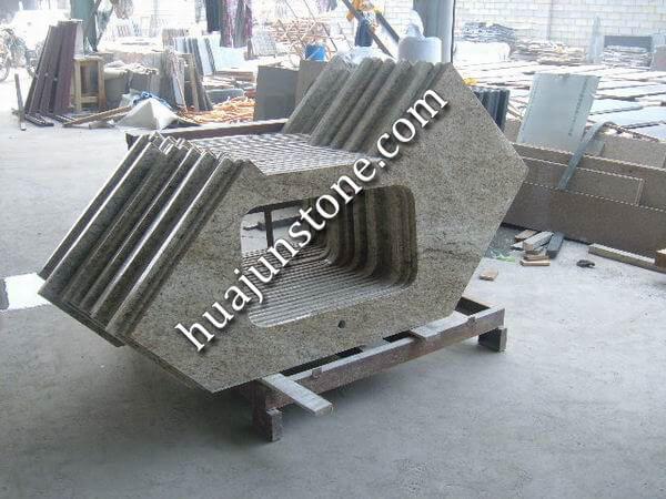 Giallo Ornamental Granite Vanity Tops