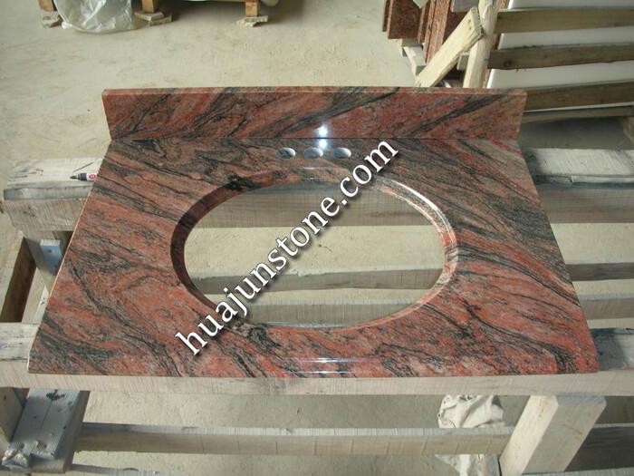 Multicolor Red Granite Vanity Tops