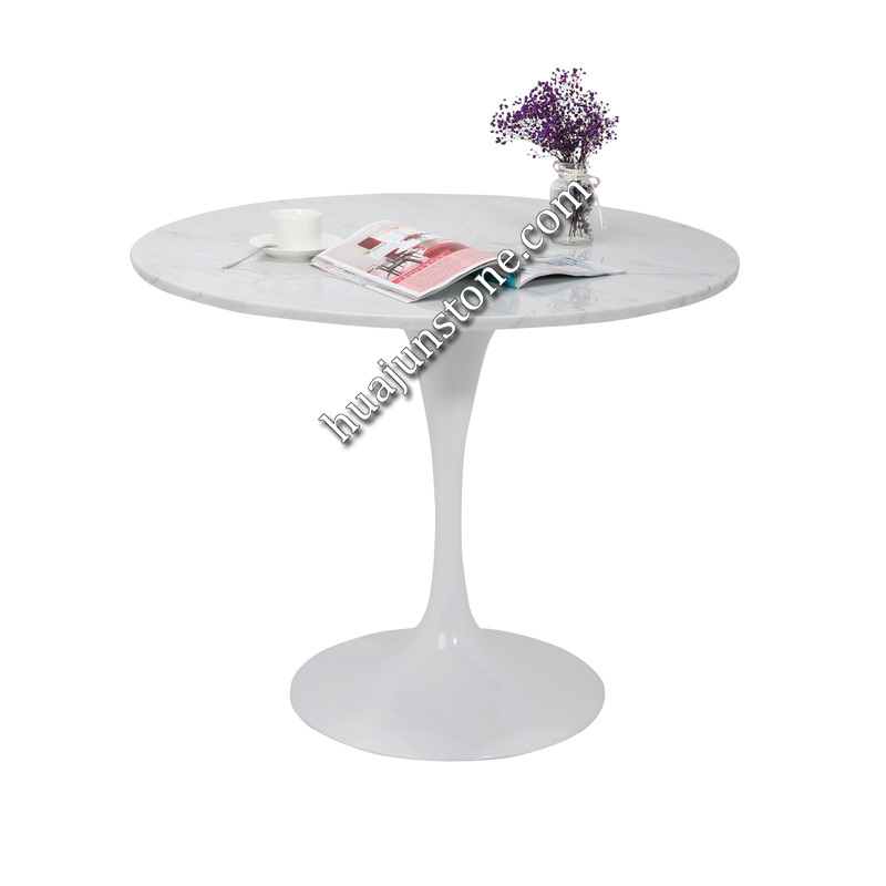 Carrara White Round Table Tops