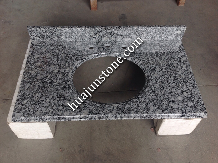 White Oyster Granite Vanity Tops