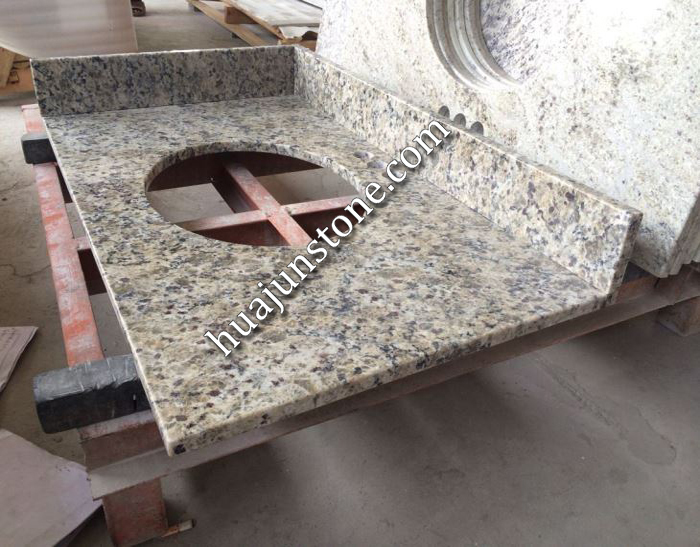 Yellow Butterfly Granite Vanity Tops